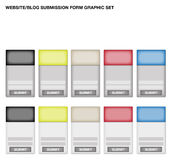Submission Form Graphic Set Royalty Free Stock Photos