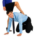 Submissive businessman at work Stock Photo