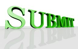 Submit. 3d submit rendered high Royalty Free Stock Images