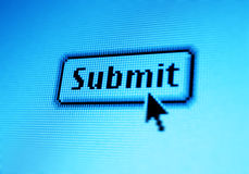 Submit. Button stock photo
