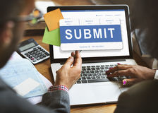 Submit Application Membership Register Send Concept Royalty Free Stock Photography