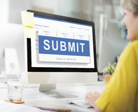 Submit Application Membership Register Send Concept Royalty Free Stock Photos