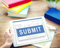 Submit Application Membership Register Send Concept Stock Photography