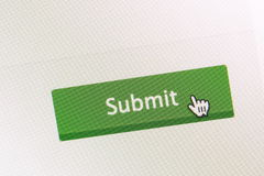 Submit button. Close - up Submit button from computer screen royalty free stock photography