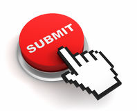 Submit button concept 3d illustration Royalty Free Stock Photography
