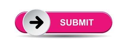 Submit button pink. Submit now web button of vector illustration on isolated white background vector illustration