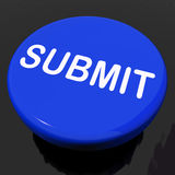 Submit Button Shows Submitting Submission Or Application Royalty Free Stock Images