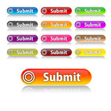 Submit buttons. For your web Stock Images