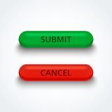 Submit and cancel 3d buttons. Royalty Free Stock Photography