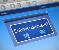 Submit comment concept. royalty free stock photography