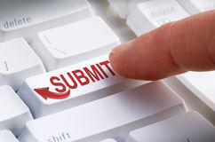Free SUBMIT Keyboard Button Online Submission Royalty Free Stock Photos - 49665728