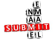 Submit Name Email Crossword Stock Photo