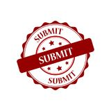 Submit stamp illustration. Submit red stamp seal illustration design Royalty Free Stock Photography