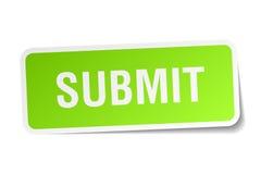 Submit square sticker. On white Stock Photos