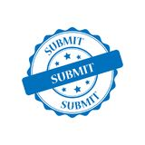 Submit stamp illustration. Submit blue stamp seal illustration design Royalty Free Stock Photo