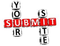 Submit Your Site Crossword Royalty Free Stock Image