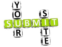 Submit Your Site Crossword Royalty Free Stock Images
