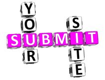 Submit Your Site Crossword Stock Photo