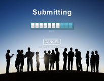 Submitting Online Internet Loading Progress Website Concept Royalty Free Stock Photos