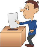 Submitting a vote Royalty Free Stock Photo