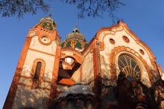 犹太教堂在Subotica,伏伊伏丁那,塞尔维亚 库存图片