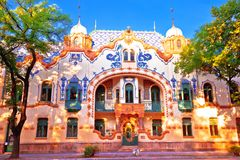 Subotica colorful street architecture view. Reichl palace in Vojvodina region of Serbia royalty free stock photography