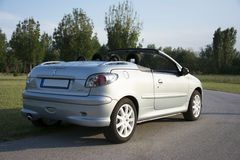 Subotica, Serbia, July 23, 2015: Photo shooting of a convertible Stock Photography