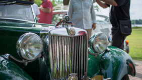 Subotica, Serbie-juin 05,2016 : Les Anglais MG sur le vieux salon automobile annuel de minuterie Photographie stock