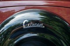 Subotica, Servië-Jun 05.2016: Het teken van Citroën op Jaarlijks oud tijdopnemerpubliek Royalty-vrije Stock Afbeeldingen