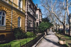Free Subotica Street With Old Mansions Royalty Free Stock Images - 177429909