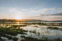 Subpradoo Reservoir in thailand Royalty Free Stock Photo
