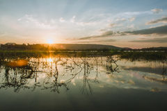 Subpradoo Reservoir in thailand Royalty Free Stock Images