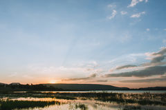 Subpradoo Reservoir in thailand Royalty Free Stock Photos
