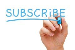 Subscreva o marcador azul Fotografia de Stock
