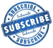 Subscreva o selo ilustração royalty free