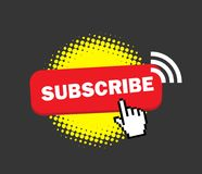Subscribe Badge for Channel. Vector Design Royalty Free Stock Photo