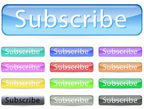 Subscribe button Royalty Free Stock Images