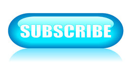 Subscribe button. On white background Stock Photos