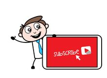 Subscribe Channel Presentation Vector. Design Royalty Free Stock Images