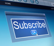Subscribe concept. Royalty Free Stock Photo
