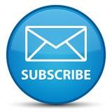 Subscribe (email icon) special cyan blue round button ελεύθερη απεικόνιση δικαιώματος