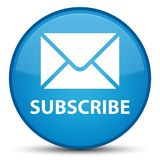 Subscribe (email icon) special cyan blue round button διανυσματική απεικόνιση