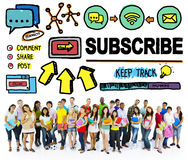 Subscribe Follow Registration Support Media Concept Stock Images
