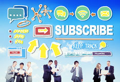 Subscribe Follow Registration Support Media Concept.  Royalty Free Stock Photos