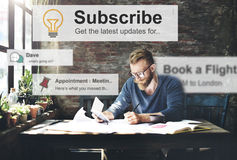 Subscribe Follow Subscription Membership Social Media Concept Royalty Free Stock Images