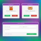Subscribe forms amd message web form Stock Photography