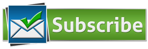 Subscribe Green Blue Button Style Royalty Free Stock Photography