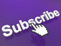 Subscribe link Royalty Free Stock Photography