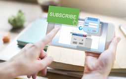 Subscribe Member Register Social Media Feed Concept Royalty Free Stock Image