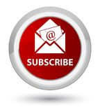 Subscribe (newsletter email icon) prime red round button Royalty Free Stock Image